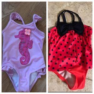 Size 2T swimsuits. EUC. Gymboree brand